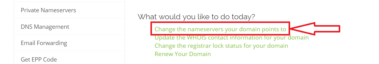 change nameservers your domain